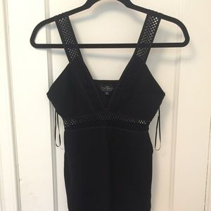 Top Shop Black V Neck Dress
